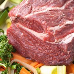 Suppenfleisch durchwachsen, ohne Knochen, hohe Rippe