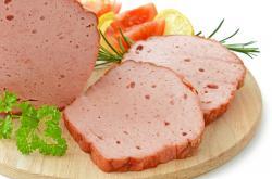 Fleischkäse / Leberkäse fein, geschnitten